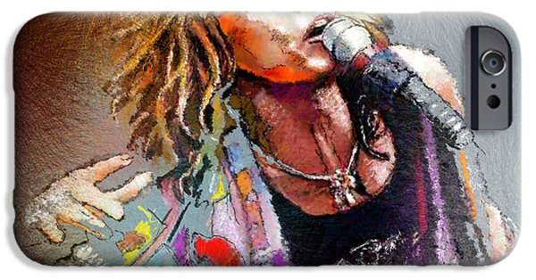 Steven Tyler 02  Aerosmith IPhone 6s Case by Miki De Goodaboom