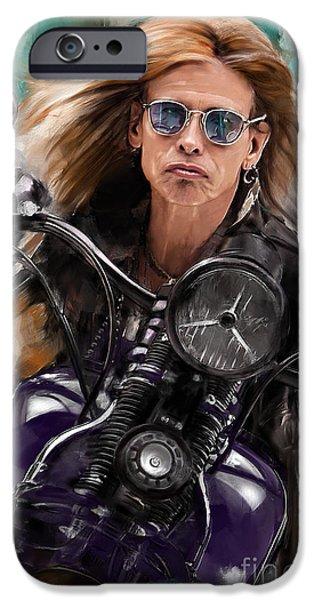 Steven Tyler iPhone 6s Case - Steven Tyler On A Bike by Melanie D