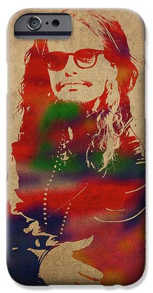Steven Tyler iPhone 6s Case - Steven Tyler Watercolor Portrait Aerosmith by Design Turnpike