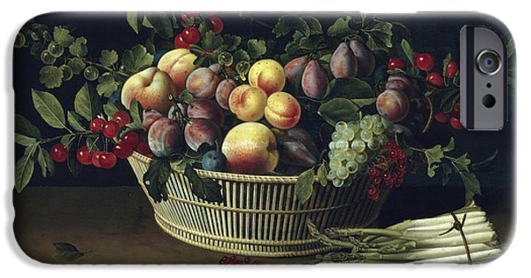 Still Life With A Basket Of Fruit And A Bunch Of Asparagus IPhone 6s Case by Louise Moillon