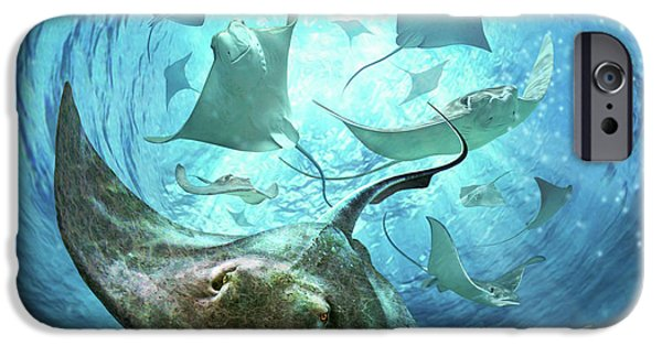 Swimming iPhone 6s Case - Sting Rays by Jerry LoFaro