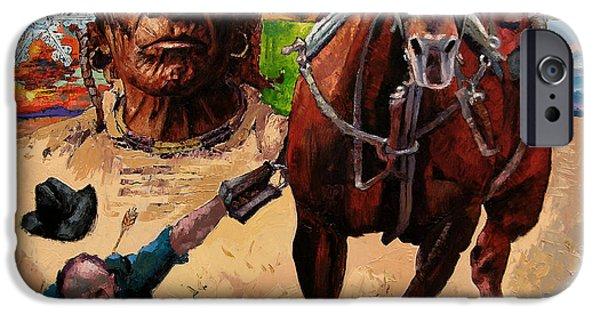 Horse iPhone 6s Case - Stolen Land by John Lautermilch