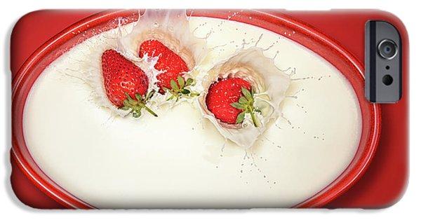 Strawberries Splashing In Milk IPhone 6s Case
