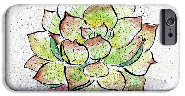 Desert iPhone 6s Case - Succulent by Diane Thornton