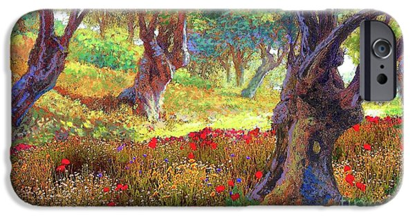 Daisy iPhone 6s Case - Tranquil Grove Of Poppies And Olive Trees by Jane Small