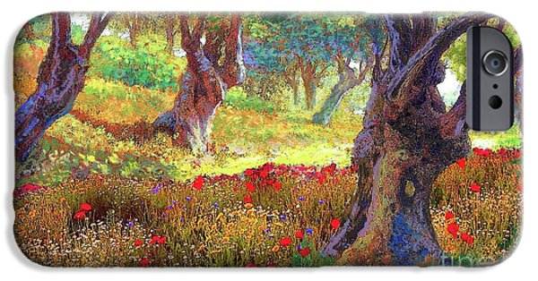 Tranquil Grove Of Poppies And Olive Trees IPhone 6s Case