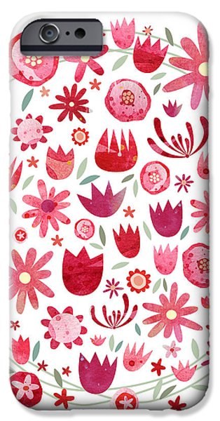 Summer Flower Circle IPhone 6s Case by Nic Squirrell