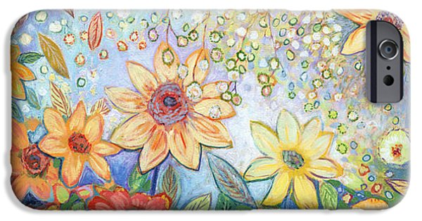 Sunflower iPhone 6s Case - Sunflower Tropics by Jennifer Lommers