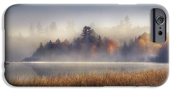 Boat iPhone 6s Case - Sunrise In Lake Placid  by Magda  Bognar