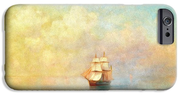 Boat iPhone 6s Case - Sunrise On The Sea by Georgiana Romanovna