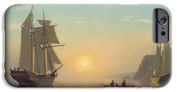 Boat iPhone 6s Case - Sunset Calm In The Bay Of Fundy by William Bradford