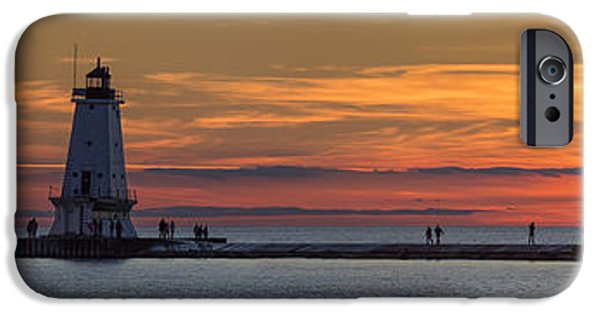 Marquette iPhone 6s Case - Sunset Over Ludington Panoramic by Adam Romanowicz