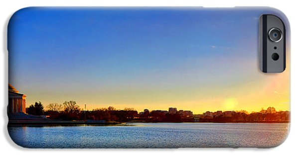 Sunset Over The Jefferson Memorial  IPhone 6s Case by Olivier Le Queinec