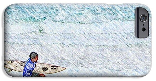 Surfer In Aus IPhone 6s Case by Daisuke Kondo