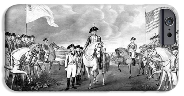 George Washington iPhone 6s Case - Surrender Of Lord Cornwallis At Yorktown by War Is Hell Store