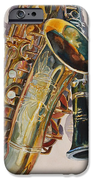 Saxophone iPhone 6s Case - Taking A Shine To Each Other by Jenny Armitage