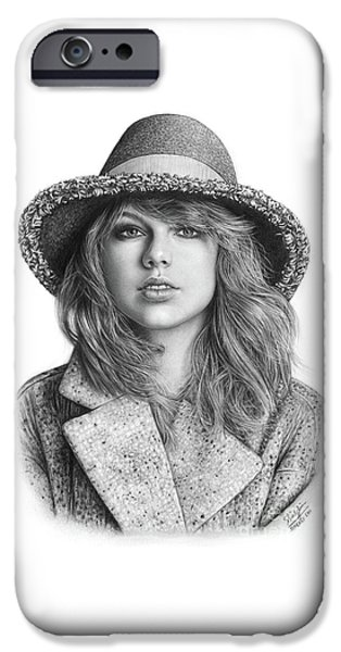 Taylor Swift Portrait Drawing IPhone 6s Case by Shierly Lin