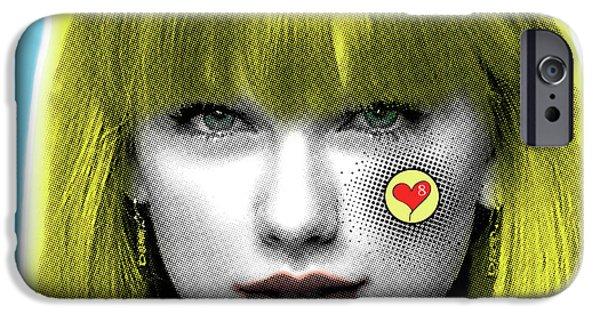 Taylor Swift, Pop Art, Portrait, Contemporary Art On Canvas, Famous Celebrities IPhone 6s Case by Dr Eight Love