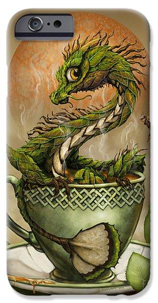 Dragon iPhone 6s Case - Tea Dragon by Stanley Morrison