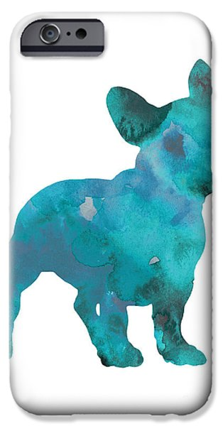 Teal Frenchie Abstract Painting IPhone 6s Case by Joanna Szmerdt