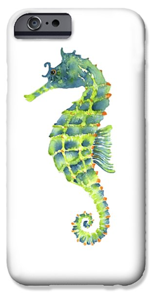 Teal Green Seahorse IPhone 6s Case by Amy Kirkpatrick