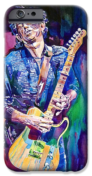 Music iPhone 6s Case - Telecaster- Keith Richards by David Lloyd Glover