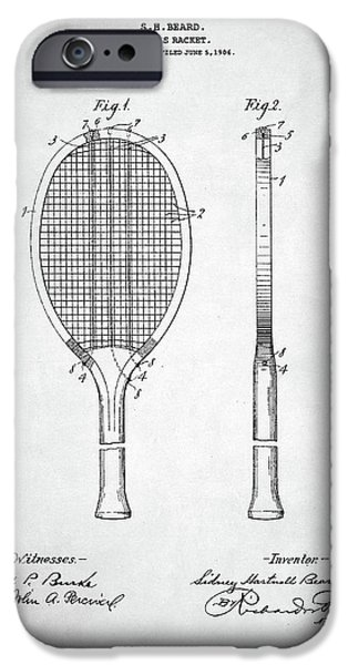 Serena Williams iPhone 6s Case - Tennis Racket Patent 1907 by Zapista