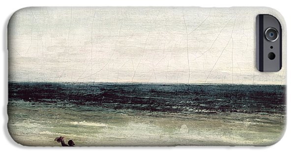 The Artist On The Seashore At Palavas IPhone Case by Gustave Courbet