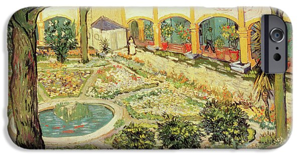 The Asylum Garden At Arles IPhone Case by Vincent van Gogh