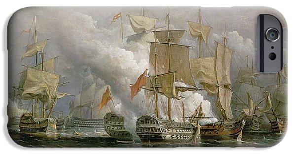 The Battle Of Cape St Vincent IPhone Case by Richard Bridges Beechey