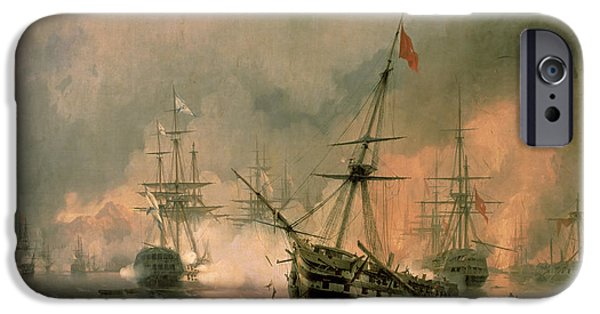 The Battle Of Navarino IPhone Case by Ivan Konstantinovich Aivazovsky