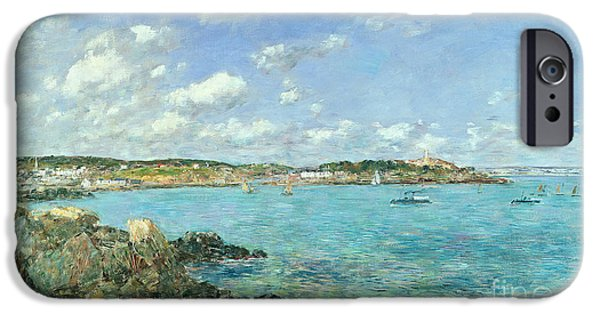 The Bay Of Douarnenez IPhone Case by Eugene Louis Boudin