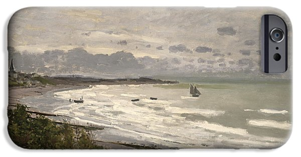 The Beach At Sainte Adresse IPhone Case by Claude Monet