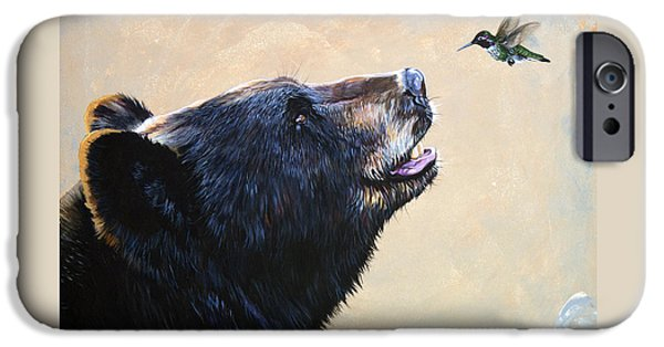 Mammals iPhone 6s Case - The Bear And The Hummingbird by J W Baker