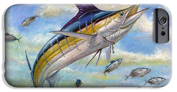 Smallmouth Bass iPhone 6s Case - The Blue Marlin Leaping To Eat by Terry  Fox