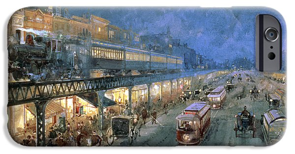 Train iPhone 6s Case - The Bowery At Night by William Sonntag