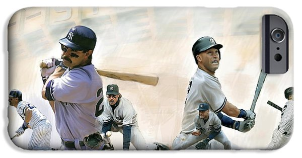 The Captains II Don Mattingly And Derek Jeter IPhone 6s Case by Iconic Images Art Gallery David Pucciarelli