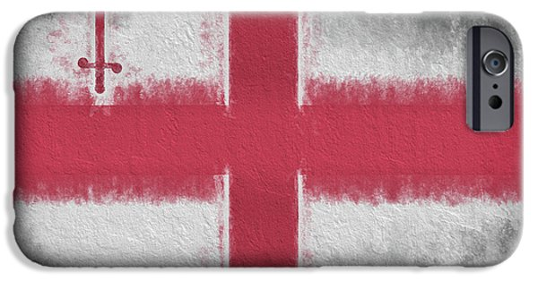 IPhone 6s Case featuring the digital art The City Flag Of London by JC Findley