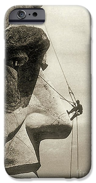 The Construction Of The Mount Rushmore National Memorial, Detail Of Abraham Lincoln,1928  IPhone 6s Case