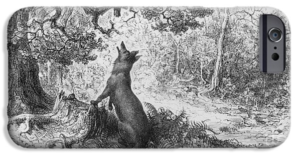 The Crow And The Fox IPhone 6s Case by Gustave Dore