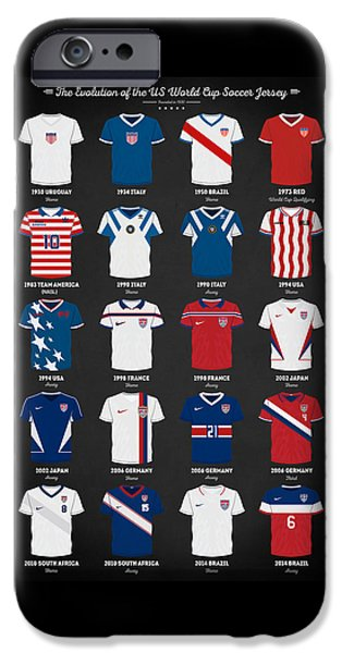 The Evolution Of The Us World Cup Soccer Jersey IPhone 6s Case by Taylan Apukovska