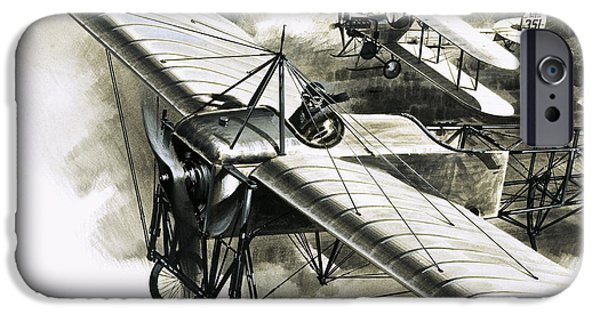 The First Reconnaissance Flight By The Rfc IPhone 6s Case by Wilf Hardy