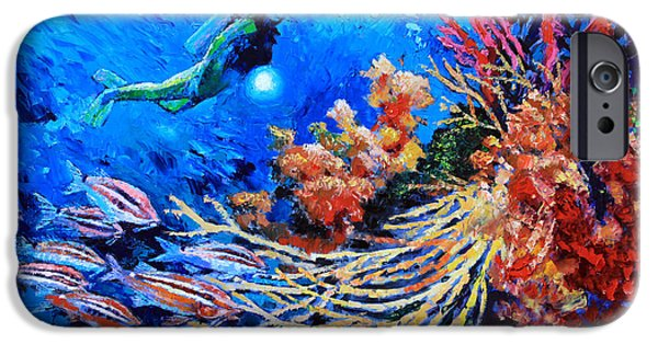 Scuba Diving iPhone 6s Case - The Flow Of Creation by John Lautermilch