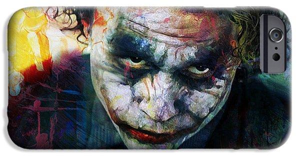 Heath Ledger iPhone 6s Case - The Joker by Mal Bray