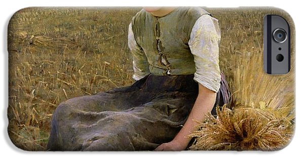 Rural Scenes iPhone 6s Case - The Little Gleaner by Hugo Salmson