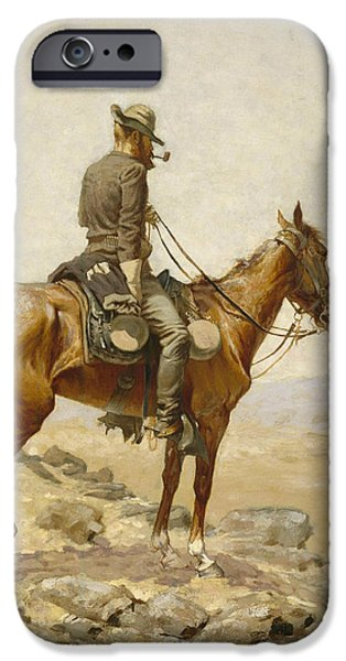 Horse iPhone 6s Case - The Lookout by Frederic Remington