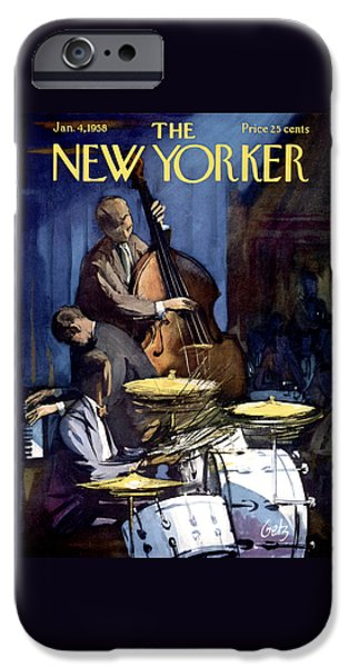 Drum iPhone 6s Case - The New Yorker Cover - January 4th, 1958 by Arthur Getz