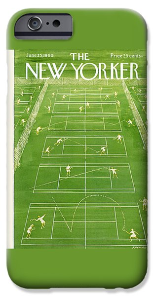 Tennis iPhone 6s Case - The New Yorker Cover - June 25th, 1960 by Anatol Kovarsky