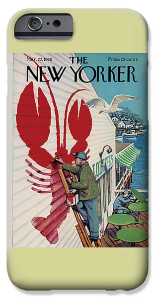 Food And Beverage iPhone 6s Case - The New Yorker Cover - March 22nd, 1958 by Arthur Getz