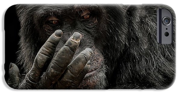 Chimpanzee iPhone 6s Case - The Palm Reader by Paul Neville